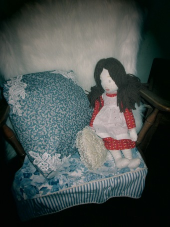 I made this doll years ago and love using her to create interest for little ones who visit our home.