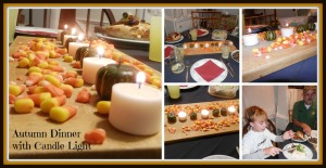 Autumn Dinner with Candle Light